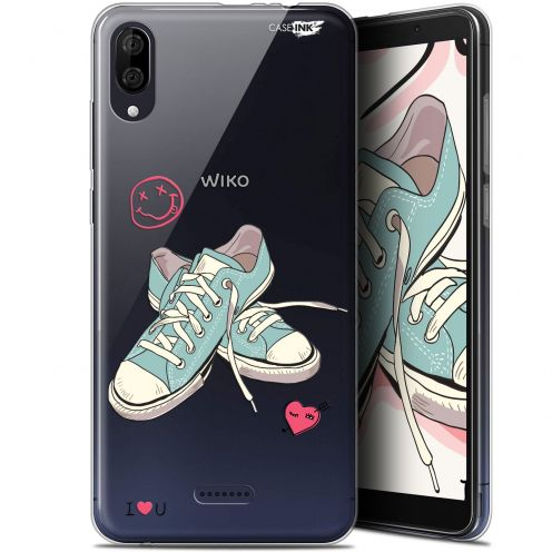 "Carcasa Gel Extra Fina Wiko Y80 (6"") Design Mes Sneakers d'Amour"