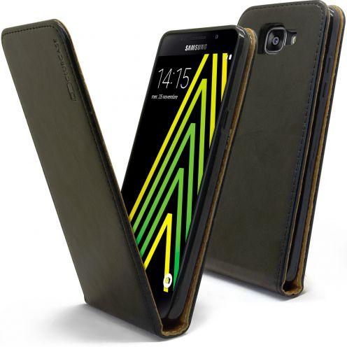 Funda Italia Flippara Samsung Galaxy A5 2016 (A510) Cuero AuténticoNegro