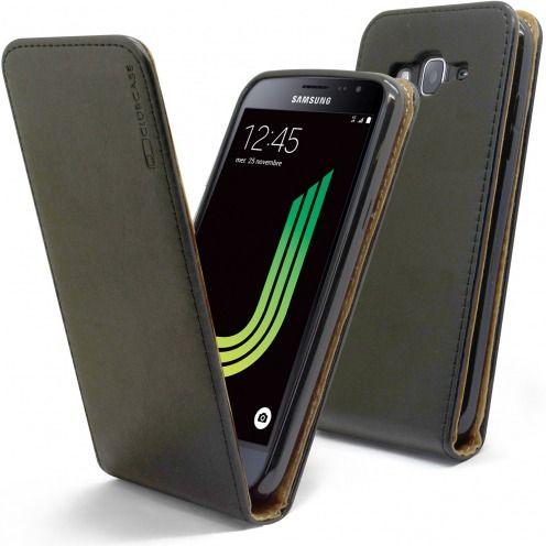 Funda Italia Flippara Samsung Galaxy J3 2016 (J320) Cuero AuténticoNegro