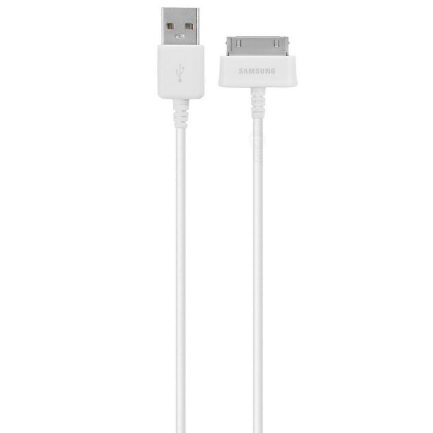 Cable de sincronización USB 30 Pins Samsung ECB-DP4AWE 1M Blanco para Galaxy Tab