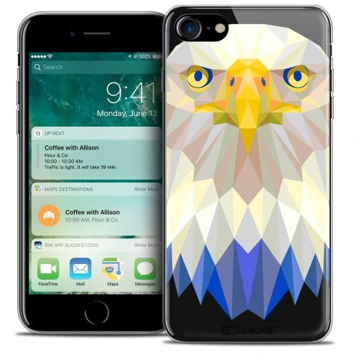 "Carcasa Crystal Gel Extra Fina Apple iPhone 7 (4.7"") Polygon Animals Águila"