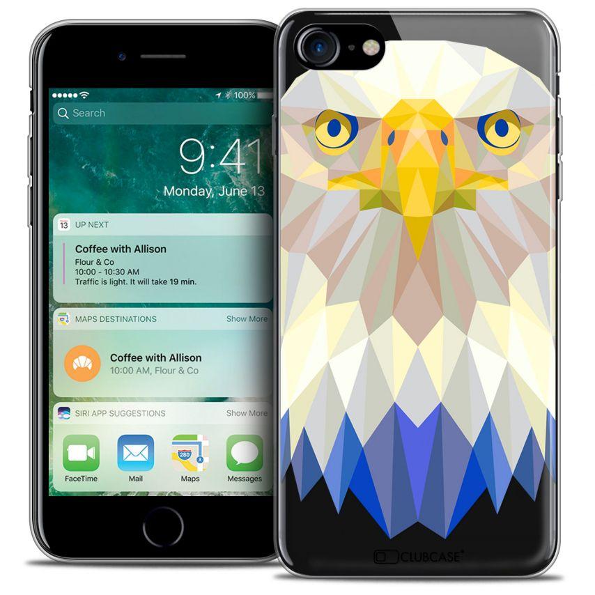 """Carcasa Crystal Gel Extra Fina Apple iPhone 7 (4.7"""") Polygon Animals Águila"""