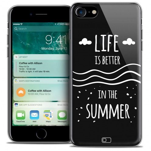 "Carcasa Crystal Gel Extra Fina Apple iPhone 7 (4.7"") Summer Life's Better"