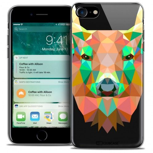 "Carcasa Crystal Gel Extra Fina Apple iPhone 7 (4.7"") Polygon Animals Ciervo"