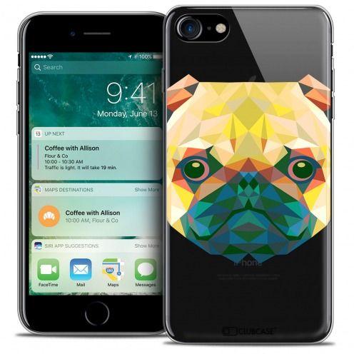 "Carcasa Crystal Gel Extra Fina Apple iPhone 7 (4.7"") Polygon Animals Perro"
