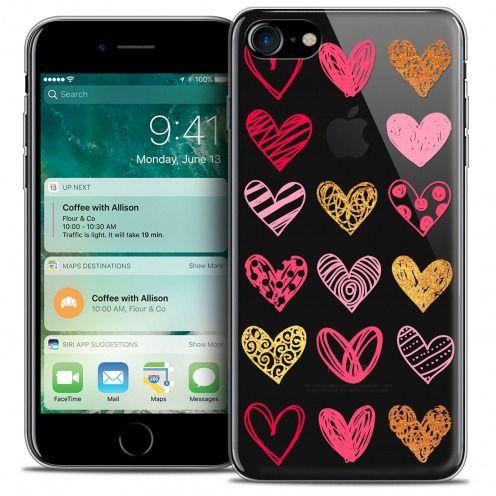 "Carcasa Crystal Gel Extra Fina Apple iPhone 7 (4.7"") Sweetie Doodling Hearts"