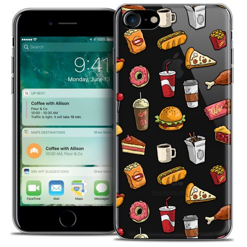 "Carcasa Crystal Gel Extra Fina Apple iPhone 7 (4.7"") Foodie Fast Food"