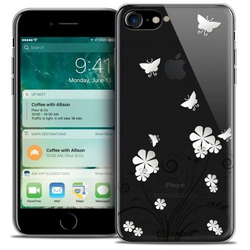"Carcasa Crystal Gel Extra Fina Apple iPhone 7 (4.7"") Summer Papillons"