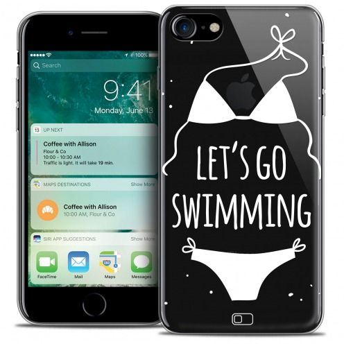 "Carcasa Crystal Gel Extra Fina Apple iPhone 7 (4.7"") Summer Let's Go Swim"