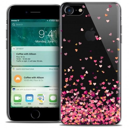 "Carcasa Crystal Gel Extra Fina Apple iPhone 7 (4.7"") Sweetie Heart Flakes"