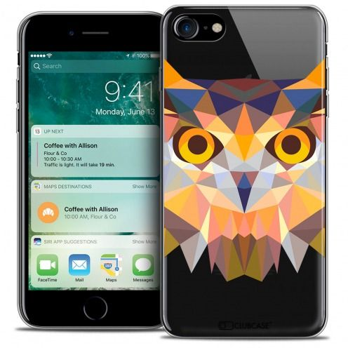 "Carcasa Crystal Gel Extra Fina Apple iPhone 7 (4.7"") Polygon Animals Búho"