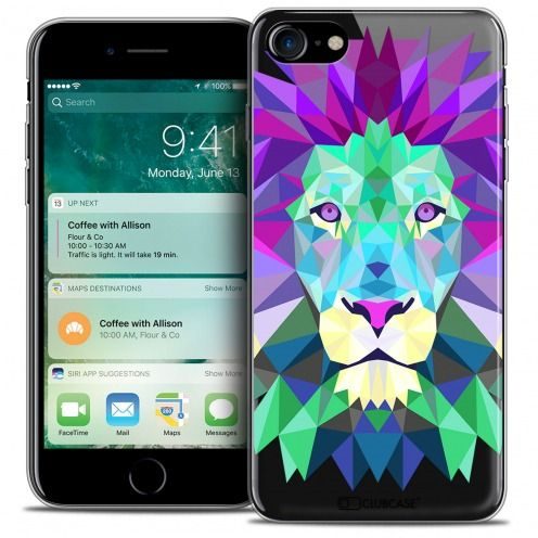 "Carcasa Crystal Gel Extra Fina Apple iPhone 7 (4.7"") Polygon Animals León"