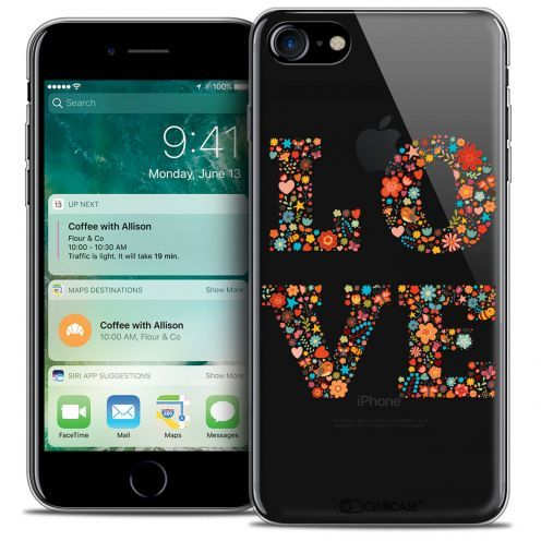 "Carcasa Crystal Gel Extra Fina Apple iPhone 7 (4.7"") Summer Love Flowers"
