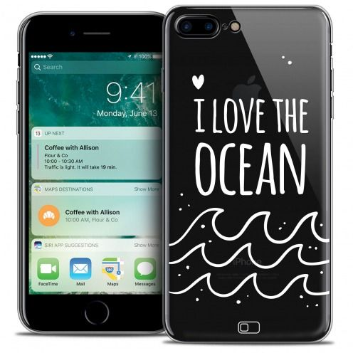 "Carcasa Crystal Gel Extra Fina Apple iPhone 7 (4.7"") Summer I Love Ocean"
