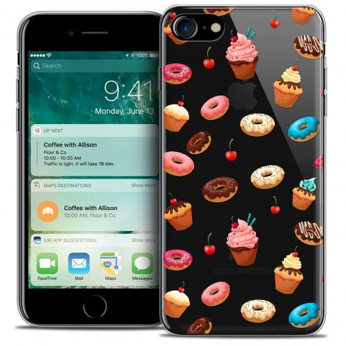 "Carcasa Crystal Gel Extra Fina Apple iPhone 7 (4.7"") Foodie Donuts"