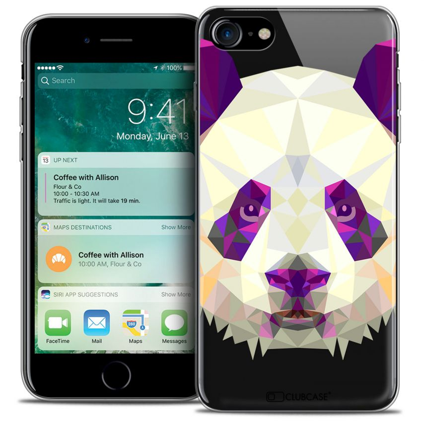 "Carcasa Crystal Gel Extra Fina Apple iPhone 7 (4.7"") Polygon Animals Panda"