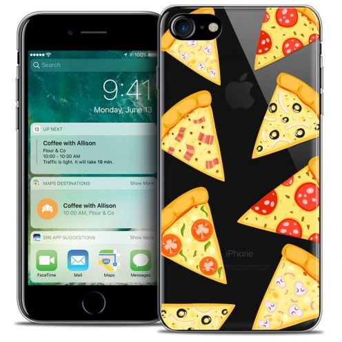 "Carcasa Crystal Gel Extra Fina Apple iPhone 7 (4.7"") Foodie Pizza"