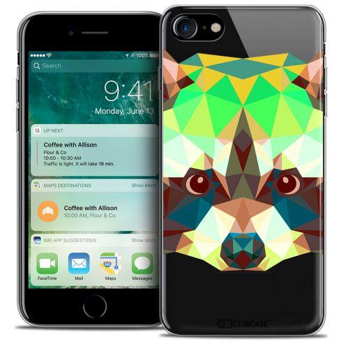 "Carcasa Crystal Gel Extra Fina Apple iPhone 7 (4.7"") Polygon Animals Mapache"