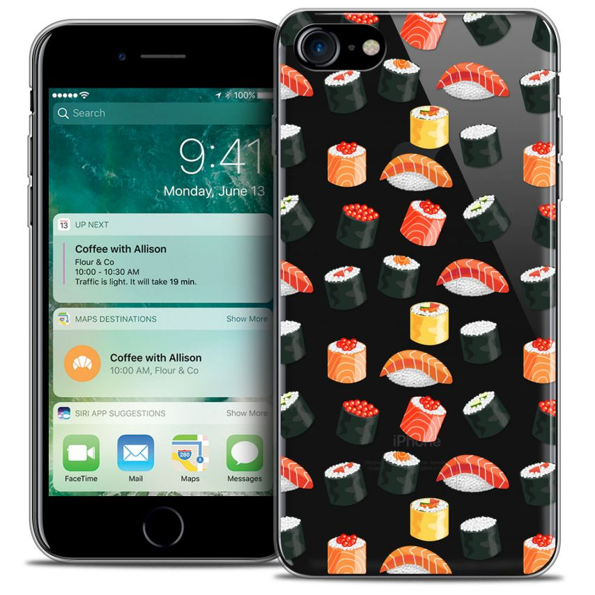 "Carcasa Crystal Gel Extra Fina Apple iPhone 7 (4.7"") Foodie Sushi"