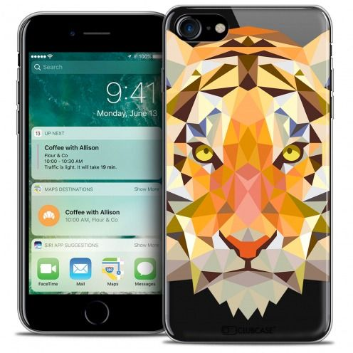"Carcasa Crystal Gel Extra Fina Apple iPhone 7 (4.7"") Polygon Animals Tigre"