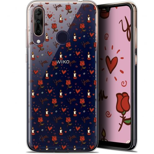 "Carcasa Gel Extra Fina Wiko View 3 PRO (6.3"") Love Bougies et Roses"