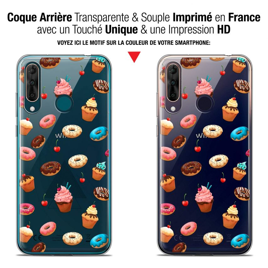 """Carcasa Gel Extra Fina Wiko View 3 PRO (6.3"""") Foodie Donuts"""