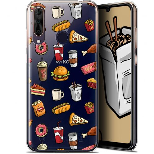 """Carcasa Gel Extra Fina Wiko View 3 PRO (6.3"""") Foodie Fast Food"""