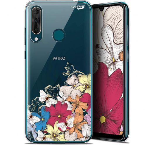 """Carcasa Gel Extra Fina Wiko View 3 PRO (6.3"""") Design Nuage Floral"""