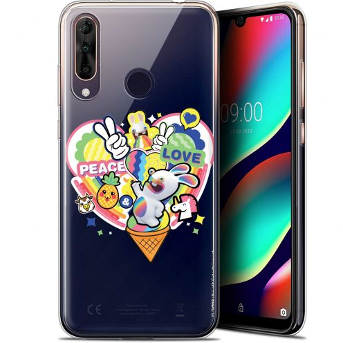 """Carcasa Gel Wiko View 3 PRO (6.3"""") Lapins Crétins™ Peace And Love"""
