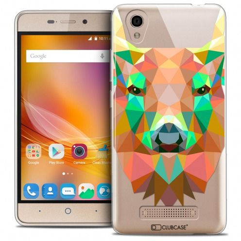 Carcasa Crystal Gel Extra Fina ZTE A452 Polygon Animals Ciervo