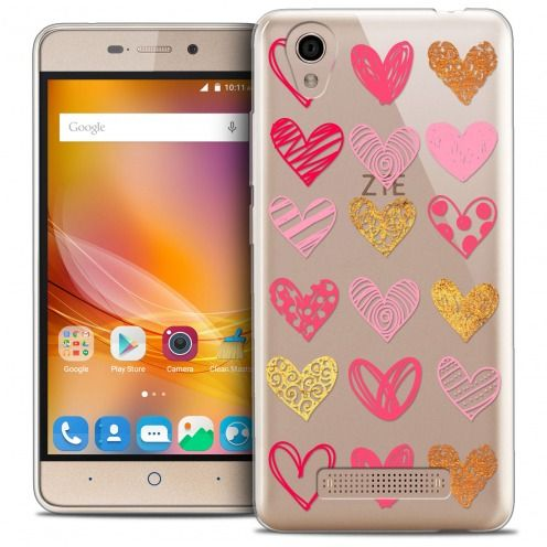 Carcasa Crystal Gel Extra Fina ZTE A452 Sweetie Doodling Hearts