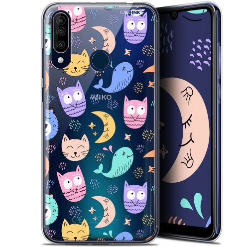 "Carcasa Gel Extra Fina Wiko View 3 (6.26"") Design Chat Hibou"