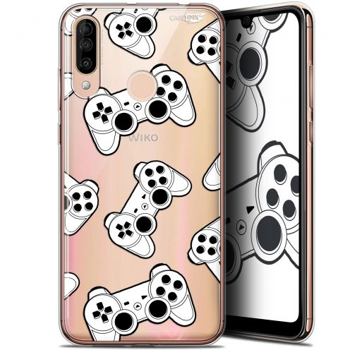 "Carcasa Gel Extra Fina Wiko View 3 (6.26"") Design Game Play Joysticks"