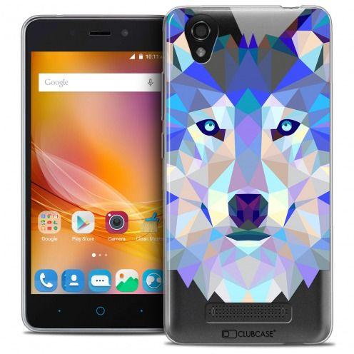 Carcasa Crystal Gel Extra Fina ZTE A452 Polygon Animals Lobo