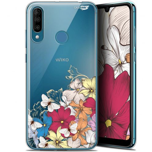 "Carcasa Gel Extra Fina Wiko View 3 (6.26"") Design Nuage Floral"