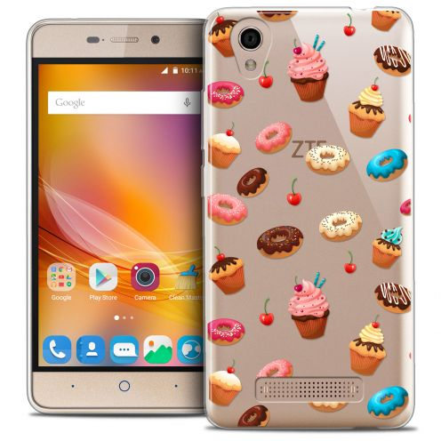 Carcasa Crystal Gel Extra Fina ZTE A452 Foodie Donuts