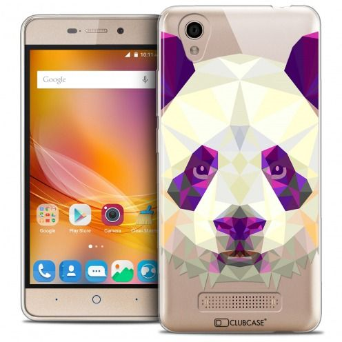 Carcasa Crystal Gel Extra Fina ZTE A452 Polygon Animals Panda