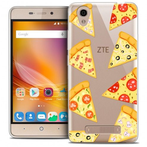 Carcasa Crystal Gel Extra Fina ZTE A452 Foodie Pizza