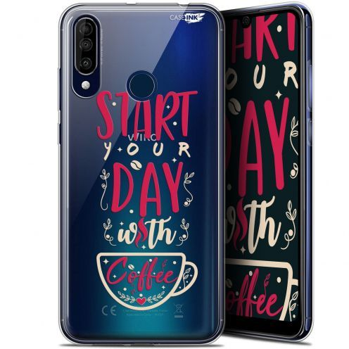 "Carcasa Gel Extra Fina Wiko View 3 (6.26"") Design Start With Coffee"