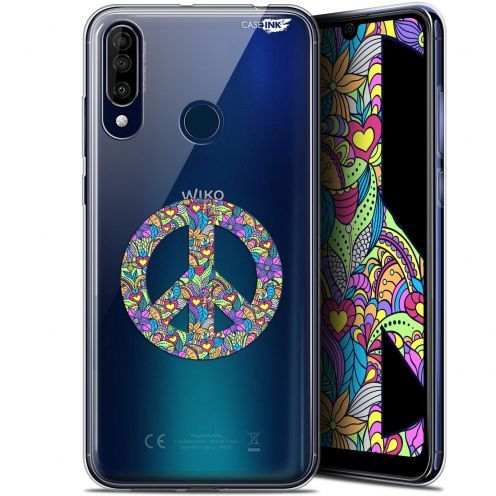 "Carcasa Gel Extra Fina Wiko View 3 (6.26"") Design Peace And Love"