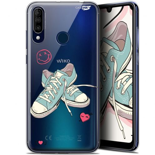 "Carcasa Gel Extra Fina Wiko View 3 (6.26"") Design Mes Sneakers d'Amour"