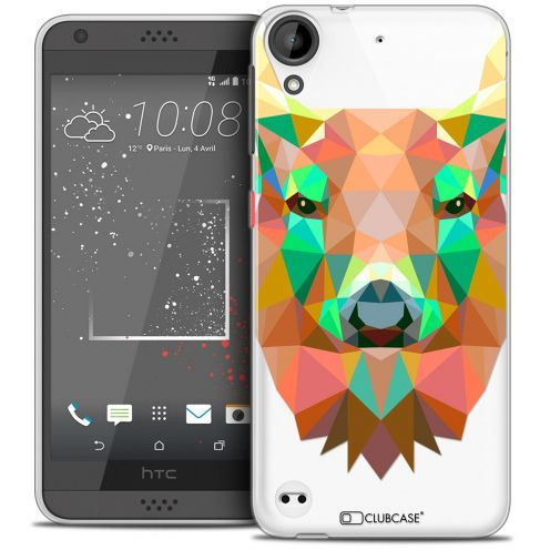 Carcasa Crystal Gel Extra Fina HTC Desire 530/630 Polygon Animals Ciervo