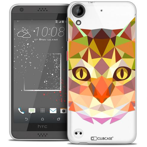 Carcasa Crystal Gel Extra Fina HTC Desire 530/630 Polygon Animals Gato