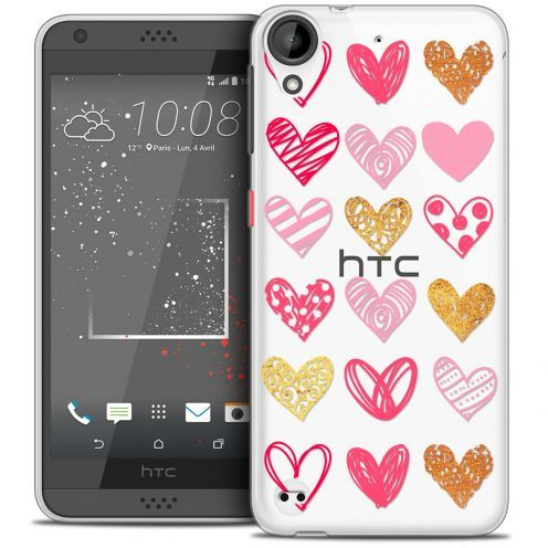 Carcasa Crystal Gel Extra Fina HTC Desire 530/630 Sweetie Doodling Hearts