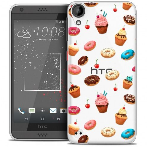Carcasa Crystal Gel Extra Fina HTC Desire 530/630 Foodie Donuts