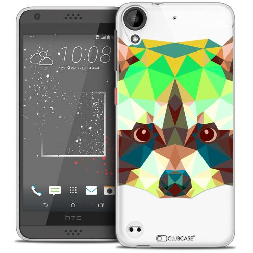 Carcasa Crystal Gel Extra Fina HTC Desire 530/630 Polygon Animals Mapache