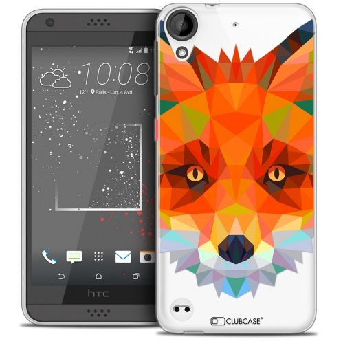 Carcasa Crystal Gel Extra Fina HTC Desire 530/630 Polygon Animals Zorro