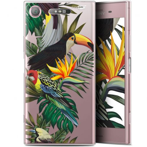 "Carcasa Gel Extra Fina Sony Xperia XZ1 (5.2"") Design Toucan Tropical"