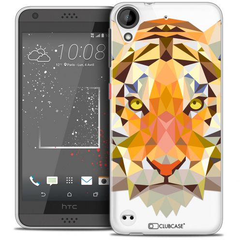 Carcasa Crystal Gel Extra Fina HTC Desire 530/630 Polygon Animals Tigre