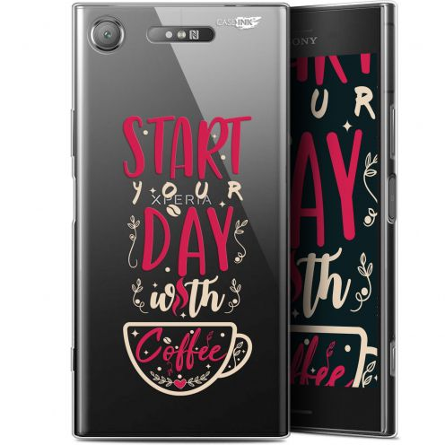 "Carcasa Gel Extra Fina Sony Xperia XZ1 (5.2"") Design Start With Coffee"